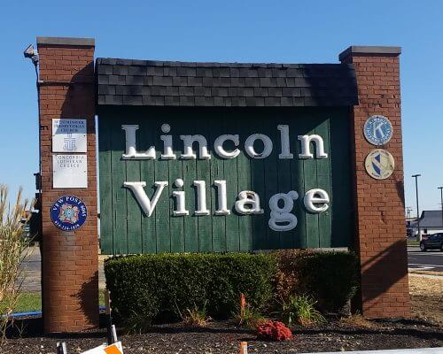 Sign Entering Into Lincoln Village Ohio